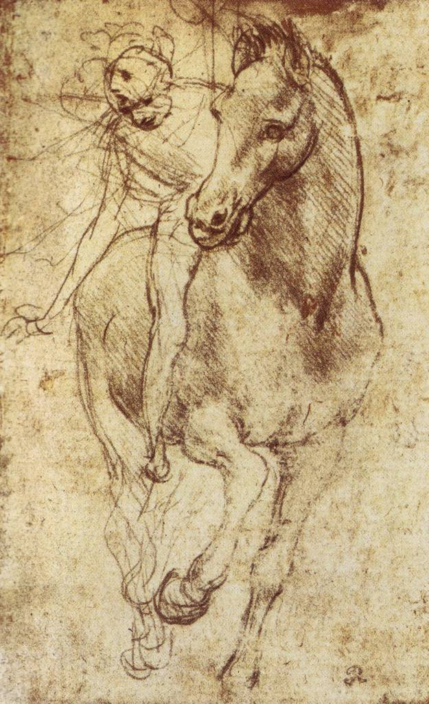The drawings of leonardo da vinci study of horse and rider c 1481 ccuart Gallery